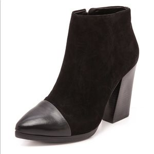 Tory Burch Suede Rivington Chunky Bootie